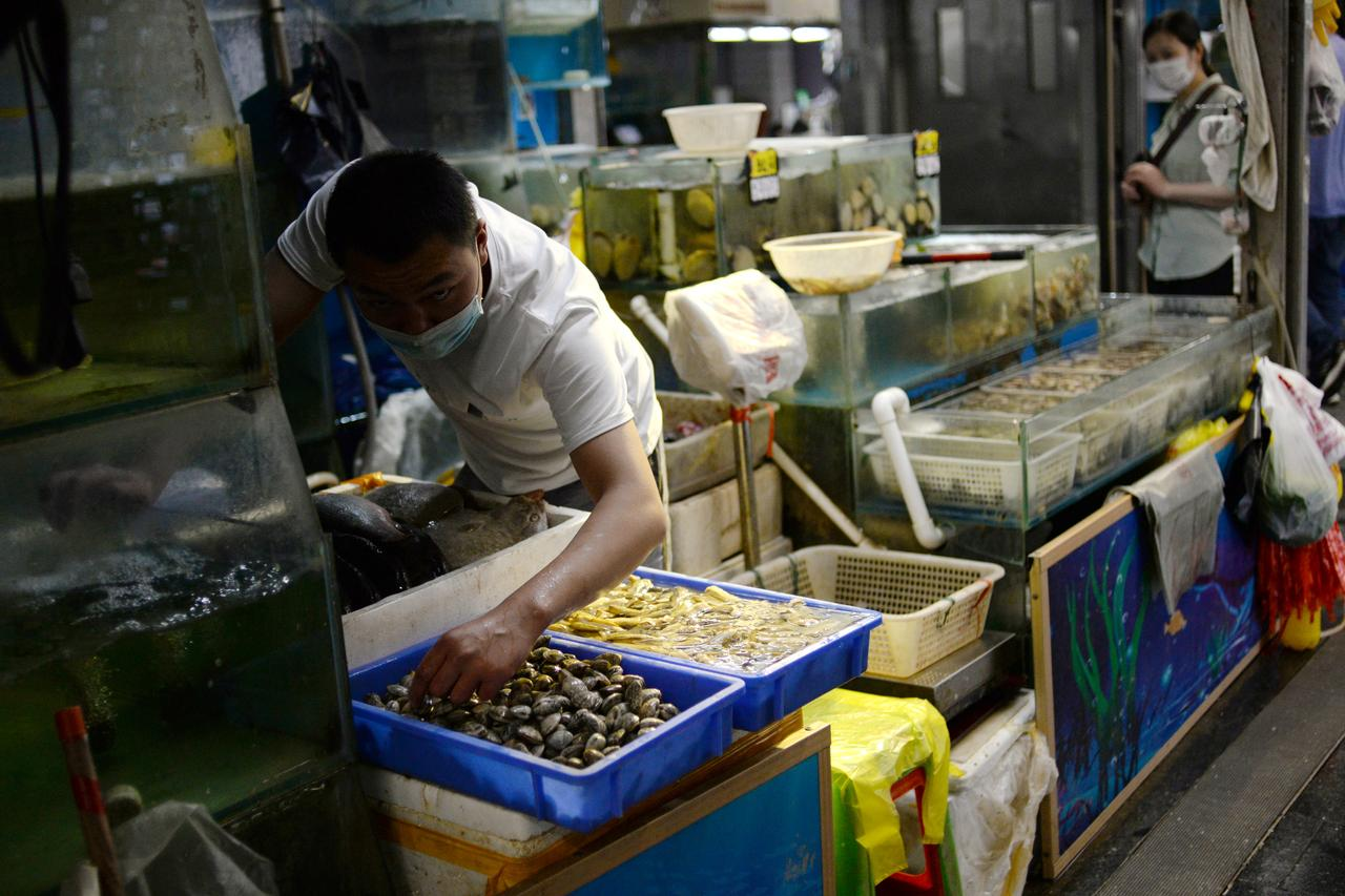 China finds heavy coronavirus traces in seafood, meat sections of Beijing food market 4