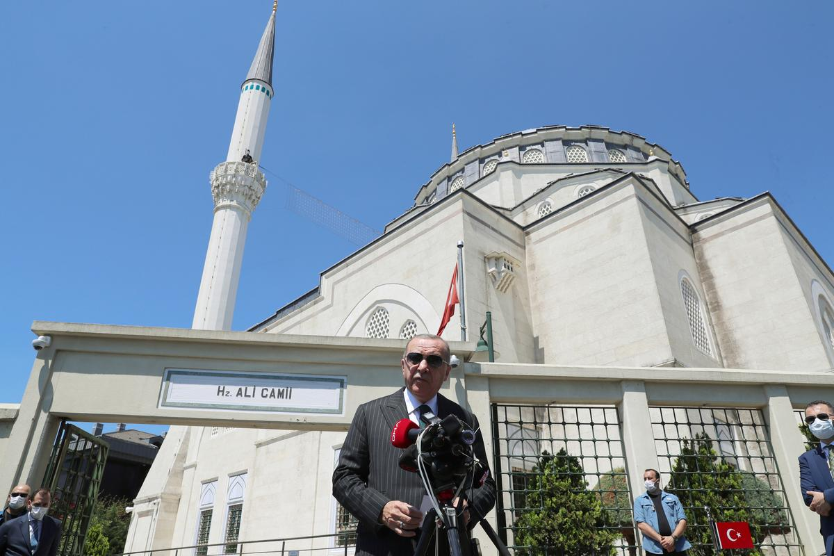 Turkey's Erdogan rejects criticism over status of Hagia Sophia