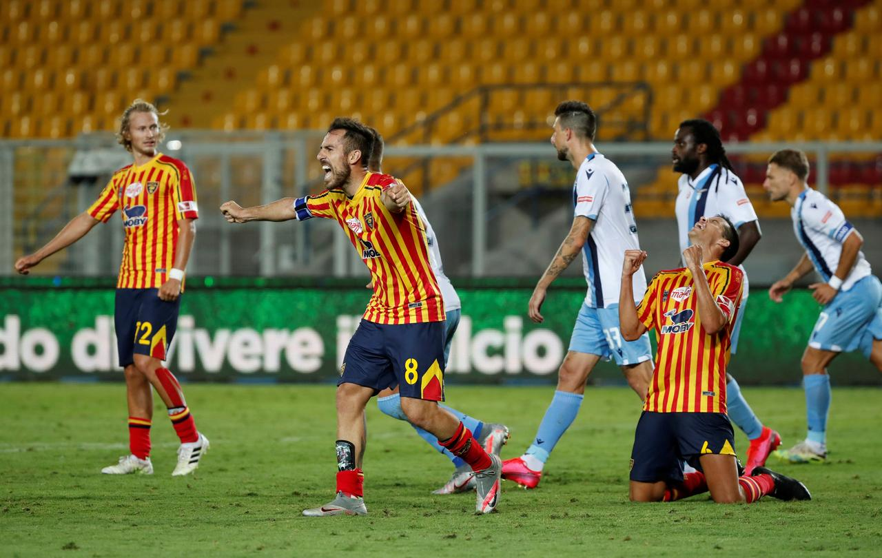 Patric sent off for biting as fading Lazio lose at Lecce - Reuters