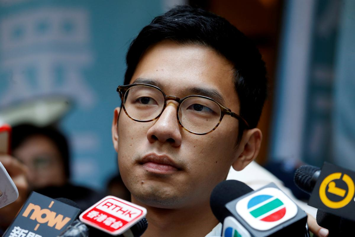 Hong Kong activist Nathan Law says arrived in London