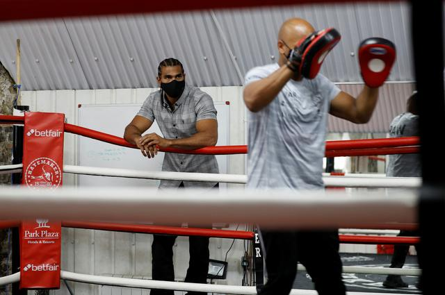 Guarding the face: ex-boxer Haye launches mask to fight COVID-19 | Reuters