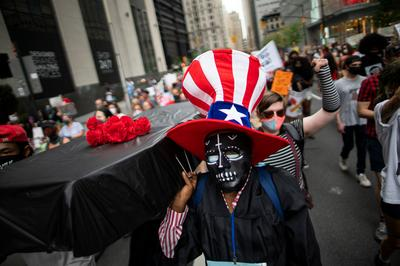 Americans protest school reopenings