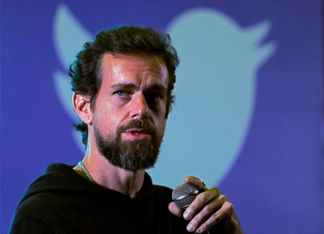 FILE PHOTO: Twitter CEO Jack Dorsey addresses students during a town hall at the Indian Institute of Technology (IIT) in New Delhi, India, November 12, 2018. REUTERS/Anushree Fadnavis