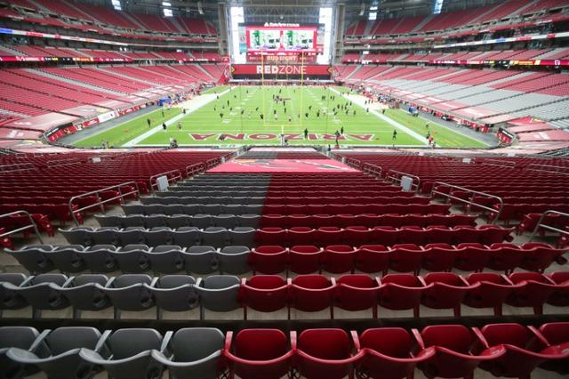 FILE PHOTO: Sep 20, 2020; Glendale, AZ, USA;  Seats are empty at State Farm Stadium before the Arizona Cardinals home opener against the Washington Football Team in Glendale, Ariz. Sept. 20, 2020.  Mandatory Credit: Michael Chow/Arizona Republic-USA TODAY NETWORK