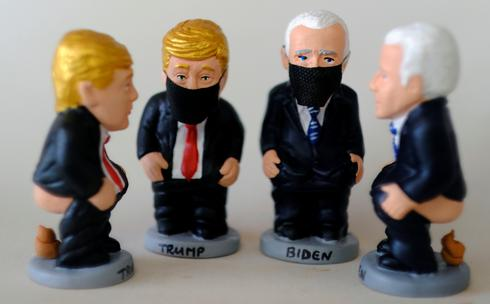 Trump, Biden 'caught with pants down' as statuettes