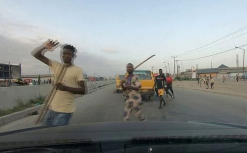 Unrest in Nigeria's Lagos despite curfew