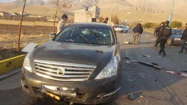 A view shows the scene of the attack that killed Prominent Iranian...