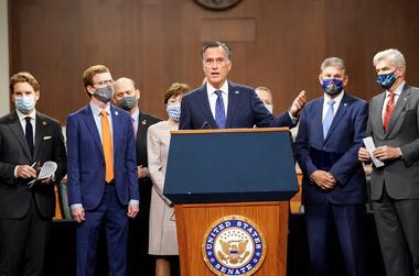 Bipartisan members of the Senate and House announce coronavirus relief...
