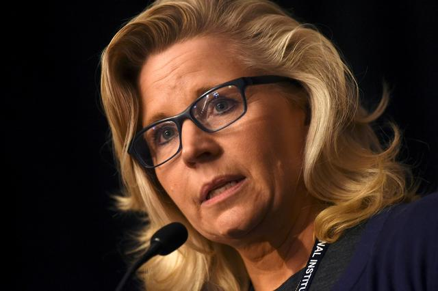 FILE PHOTO: U.S. Representative Liz Cheney addresses the media during the 2017 ''Congress of Tomorrow'' Joint Republican Issues Conference in Philadelphia, Pennsylvania, U.S. January 25, 2017. REUTERS/Mark Makela/File Photo