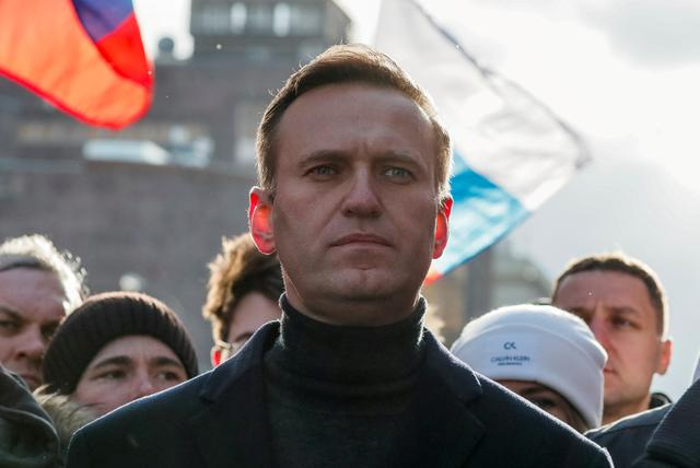 Russian opposition politician Alexei Navalny takes part in a rally in Moscow, Russia, February 29, 2020. REUTERS/Shamil Zhumatov/File Photo/File Photo