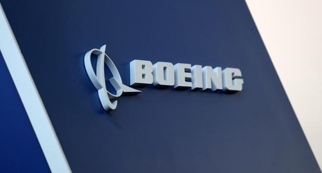 FILE PHOTO: The Boeing logo is pictured at Congonhas Airport in Sao Paulo, Brazil, August 14, 2018. REUTERS/Paulo Whitaker/File Photo