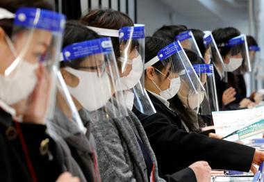 FILE PHOTO: Coronavirus disease (COVID-19) outbreak in Tokyo