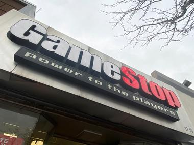 A GameStop store is seen in New York