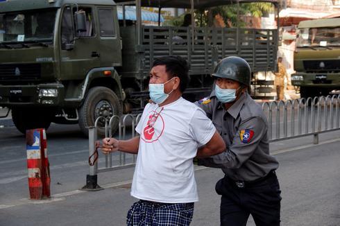 Smaller protests in Myanmar as junta deploys more troops, military vehicles