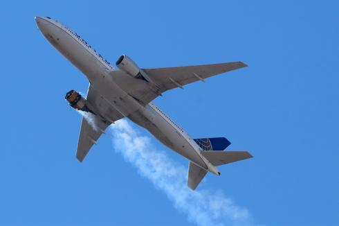 United plane drops debris over Colorado after engine failure