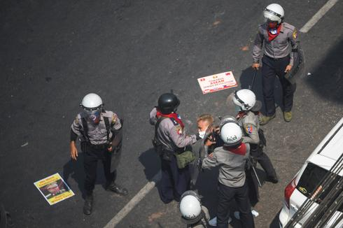 Myanmar's anti-coup protests from a bird's eye view