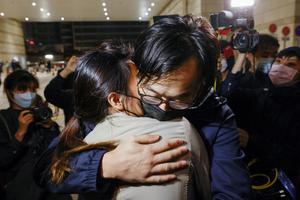 Four Hong Kong democracy activists released after marathon bail hearings