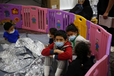 Unaccompanied children held at Texas migrant detention facility