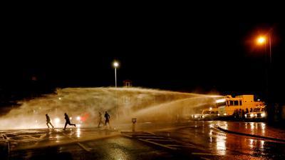 Fiery protests in Belfast