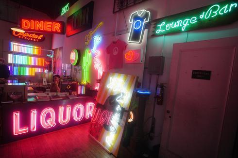 Creating neon dreams in New York City