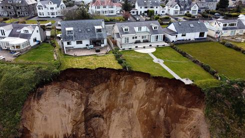 Coastal residents evacuated after cliff collapses in Wales