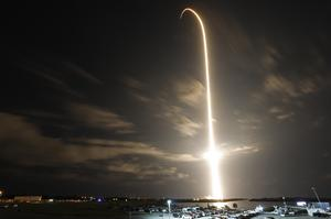 SpaceX rocket launches astronauts to space station
