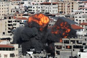 In pictures: Israel and Hamas escalate aerial bombardments