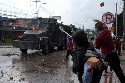 Anti-government protests in Colombia hit month-long mark