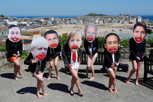 Protesters converge on the G7 summit