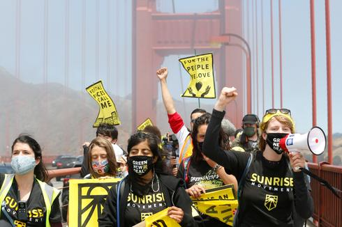 Youth activists march across northern California to demand climate action
