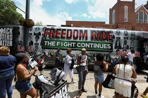 On 'Freedom Riders' 60th anniversary, activists board buses to protect voting rights