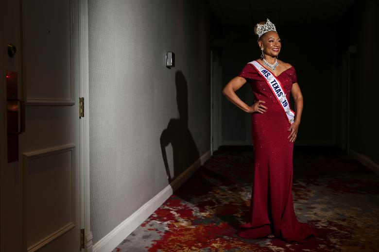 Ms. Texas Senior America 2019/20 Joyce Brown poses for a portrait before the pageant. REUTERS/Shelby Tauber