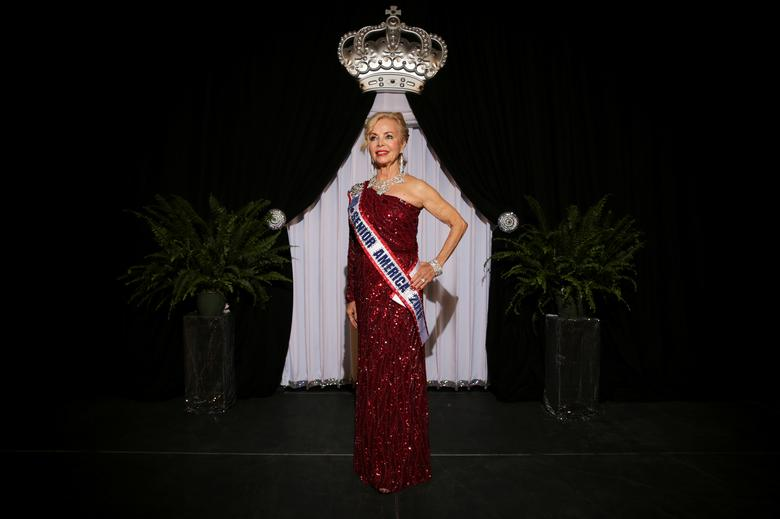 Debbie Carroll Boyce, Ms. Senior America 2011, poses for a portrait onstage. REUTERS/Shelby Tauber