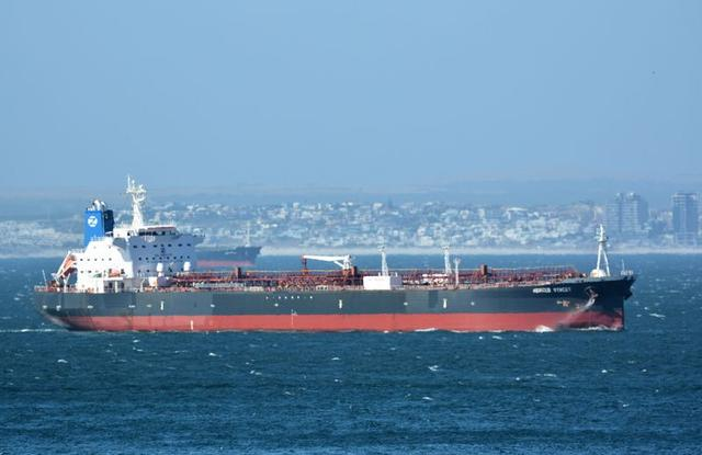 FILE PHOTO: The Mercer Street, a Japanese-owned Liberian-flagged tanker managed by Israeli-owned Zodiac Maritime that was attacked off Oman coast as seen in Cape Town, South Africa, December 31, 2015 in this picture obtained from ship tracker website, MarineTraffic.com.   Johan Victor/Handout via REUTERS