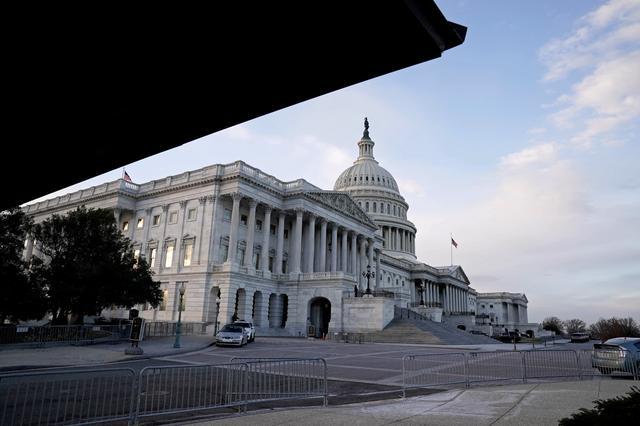 FILE PHOTO: A view of the U.S. Capitol Building in Washington, D.C., U.S. December 21, 2020. REUTERS/Ken Cedeno