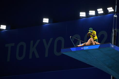 On the sidelines at the Tokyo Olympics