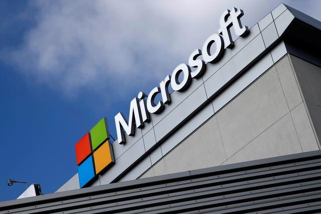 FILE PHOTO: A Microsoft logo is seen in Los Angeles, California, U.S. June 14, 2016. REUTERS/Lucy Nicholson/File Photo