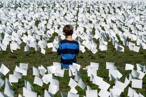 COVID victims remembered on Washington's National Mall with 650,000 white flags